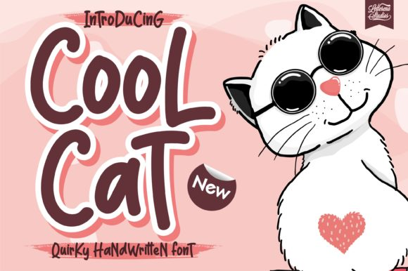 Print on Demand: Cool Cat Display Font By letterenastudios