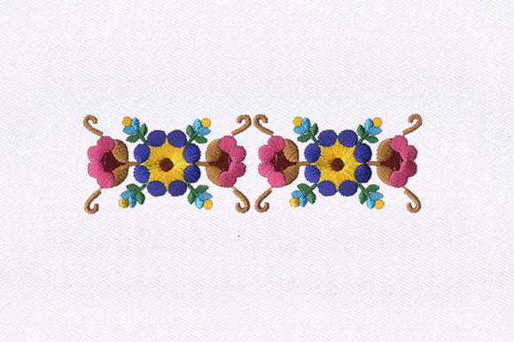 Coordinated Flowers Embroidery