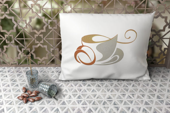 Cup of Coffee House & Home Embroidery Design By Digital Creations Art Studio