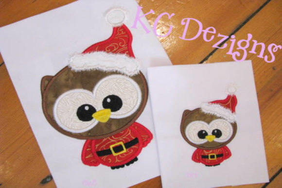 Cute Santa Owl Embroidery