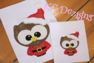 Cute Santa Owl Christmas Embroidery Design By karen50
