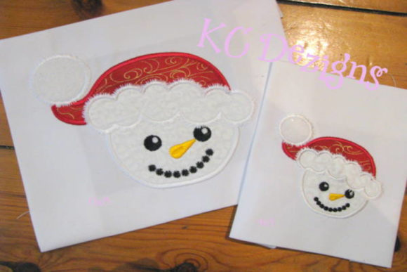 Cute Snowman Face Christmas Embroidery Design By karen50