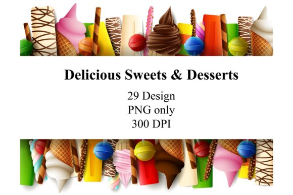 Delicious Sweet Desserts Bundle Graphic Illustrations By zhyecarther