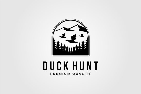 Duck Hunting Club Vintage Logo Vector Graphic Logos By lawoel