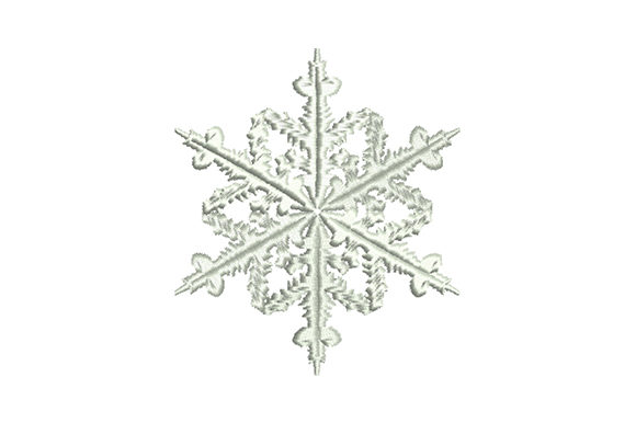 Print on Demand: Elegant Christmas Snowflake Christmas Embroidery Design By EmbArt