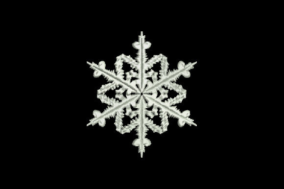 Elegant Christmas Snowflake Embroidery Download