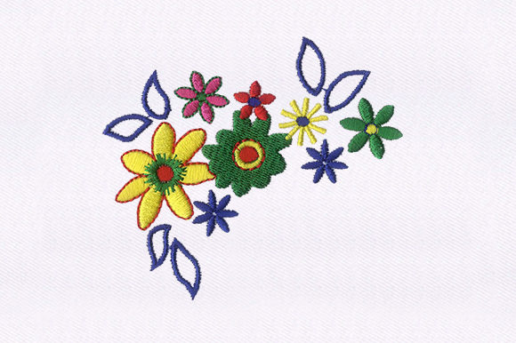 Exquisite Flowers Single Flowers & Plants Embroidery Design By DigitEMB