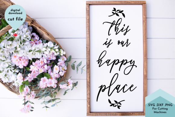 Print on Demand: Family Svg, This is Our Happy Place Svg Graphic Crafts By Lettershapes