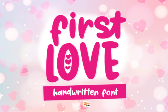 Print on Demand: First Love Script & Handwritten Font By dmletter31