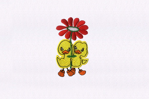 Flower & Ducklings Embroidery