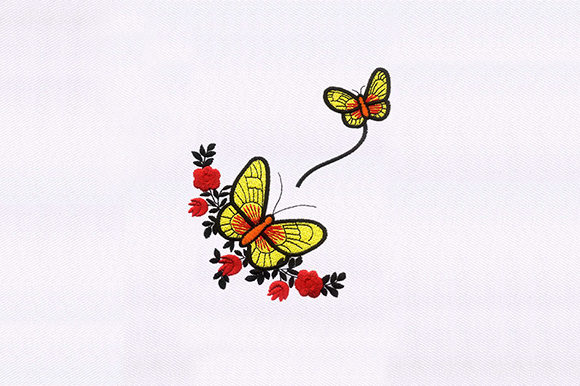 Fluttering Butterflies Bugs & Insects Embroidery Design By DigitEMB