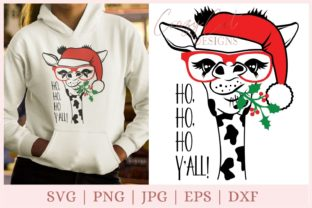 Funny Giraffe, Funny Christmas Graphic Print Templates By CrazyCutDesigns
