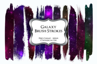 Print on Demand: Galaxy Brush Strokes PNG Clipart Graphic Illustrations By Party Pixelz