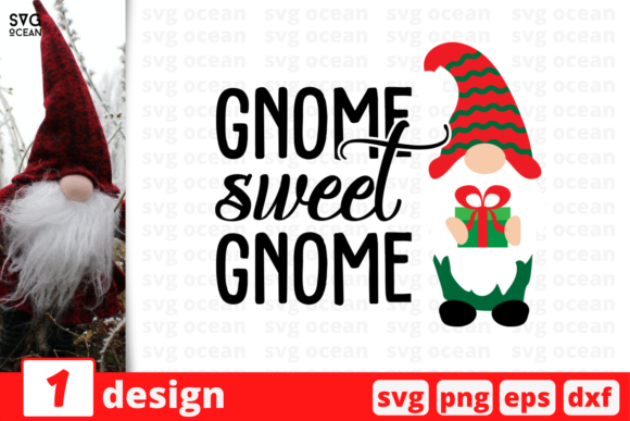 Gnome Sweet Gnome Graphic Crafts By SvgOcean