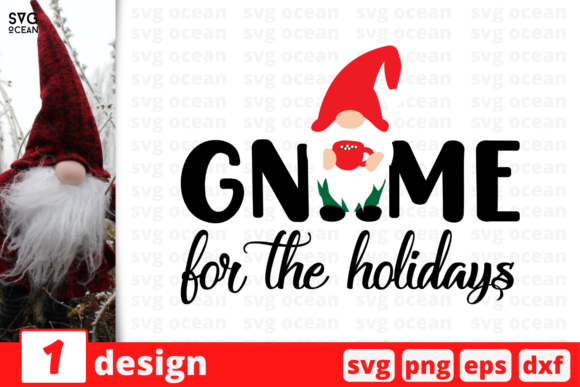Gnome for the Holidays Graphic Crafts By SvgOcean