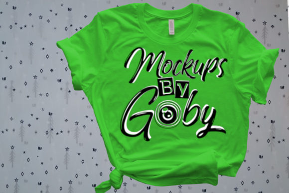 Green T-shirt, Xmas, Pictures Mockups Graphic Product Mockups By MockupsByGaby