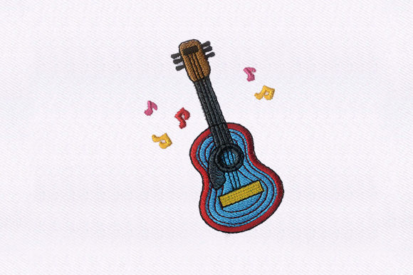 Guitar Music Embroidery Design By DigitEMB