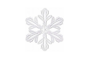 Print on Demand: Ice Snowflake Backgrounds Embroidery Design By EmbArt