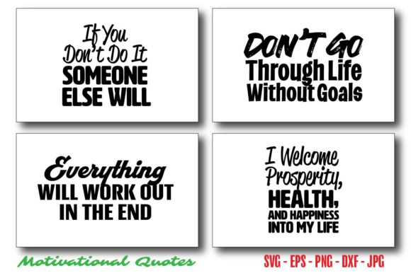 Inspirational Motivational Quotes Bundle Graphic Crafts By Saudagar