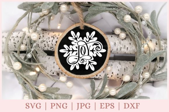 Joy, Christmas Ornament Graphic Print Templates By CrazyCutDesigns