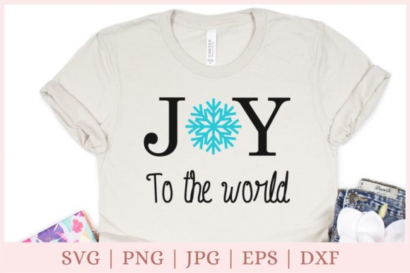 Joy to the World, Christmas, Joy Graphic Print Templates By CrazyCutDesigns