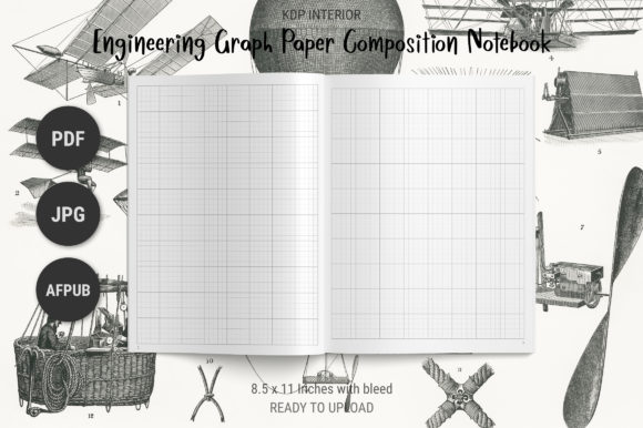 Print on Demand: KDP Engineering Graph Paper Notebook Graphic KDP Interiors By The Low Content Bookshelf