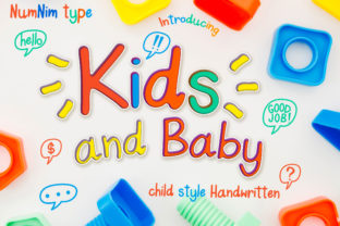 Print on Demand: Kids and Baby Script & Handwritten Font By numnim