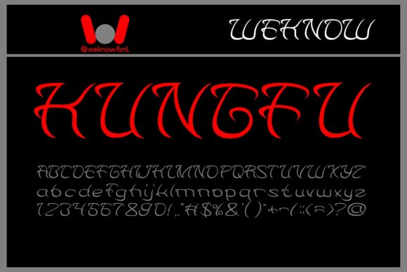 Print on Demand: Kungfu Display Font By weknow
