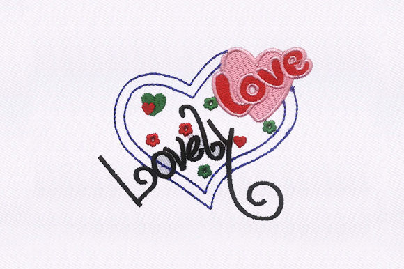 Love Heart Valentine's Day Embroidery Design By DigitEMB