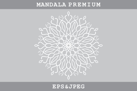 Mandala Ornament Graphic Coloring Pages & Books Adults By MbahSinyo