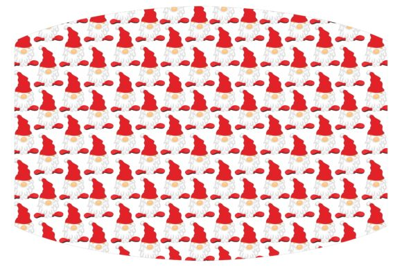 Mask Design with Gnomes Pattern Graphic