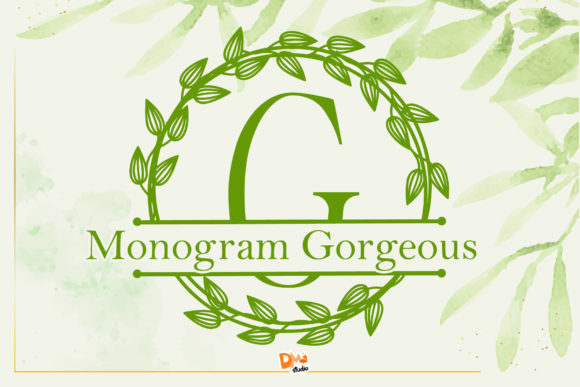 Print on Demand: Monogram Gorgeous Decorative Font By dmletter31