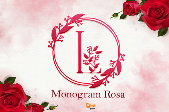 Print on Demand: Monogram Rosa Decorative Font By dmletter31