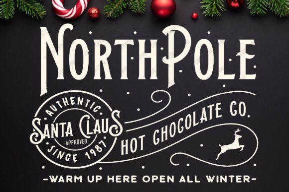 Northpole Hot Chocolate Christmas Graphic Crafts By TanyaCrewStudio