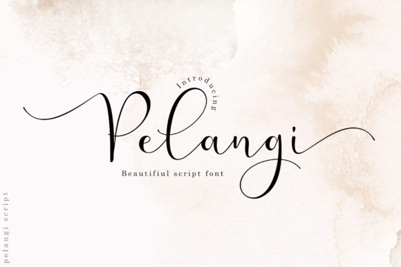 Print on Demand: Pelangi Script & Handwritten Font By Sulthan Studio
