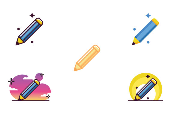 Print on Demand: Pencil Bundle School Icon Graphic Icons By meandmydate
