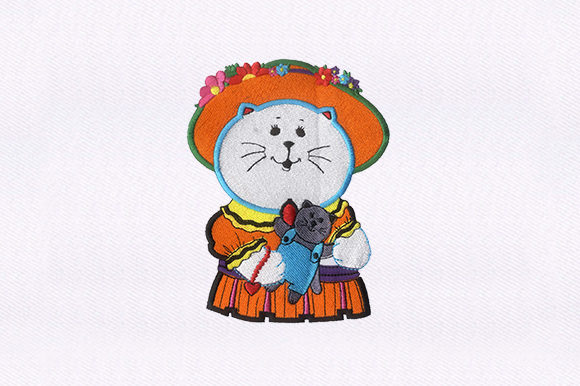 Playful Cat Cats Embroidery Design By DigitEMB