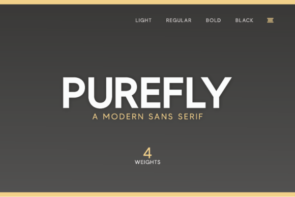 Print on Demand: Purefly Sans Serif Font By Hanna Bie