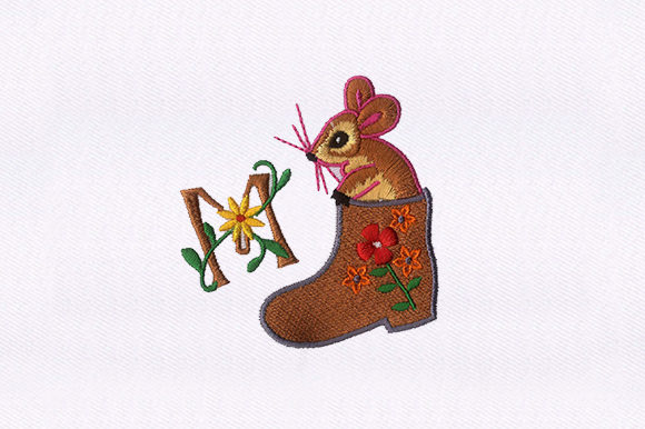 Rat in the Boot Animals Embroidery Design By DigitEMB