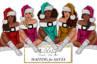 Print on Demand: Santa Claus Girls Cliparts Graphic Illustrations By TheGGShop
