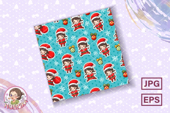Seamless Pattern Cute Christmas Theme Graphic Patterns By huapika