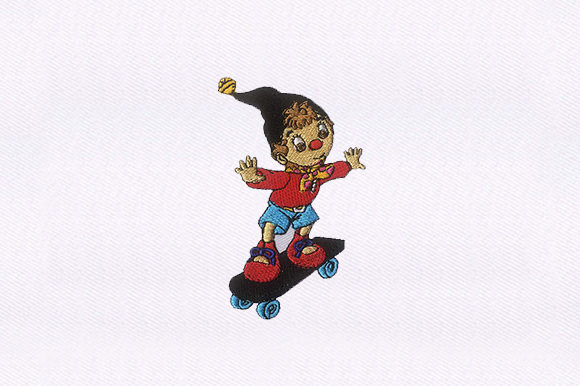 Skateboarding Puppet Toys & Games Embroidery Design By DigitEMB