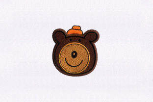 Smiling Bear Face Teddy Bears Embroidery Design By DigitEMB
