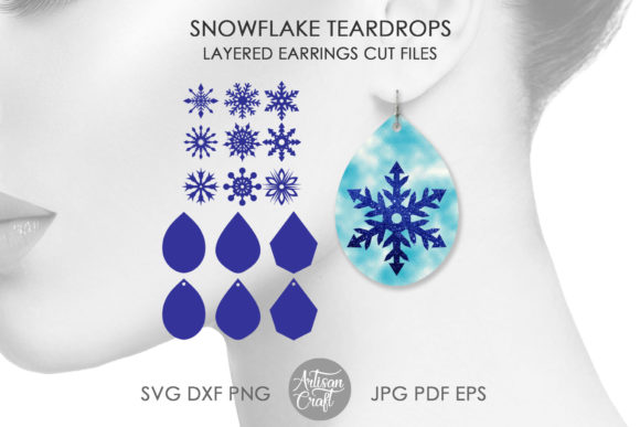 Print on Demand: Snowflake Earring Graphic 3D SVG By Artisan Craft SVG