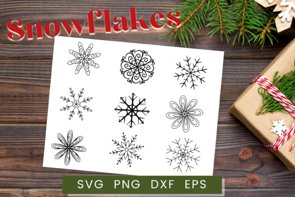 Print on Demand: Snowflake SVG, Christmas SVG Graphic Crafts By Christine Fleury