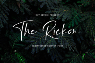 Print on Demand: The Rickon Script & Handwritten Font By Dav studio