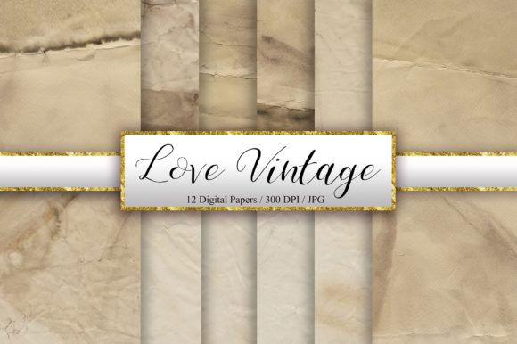 Vintage Digital Papers Graphic Backgrounds By PinkPearly