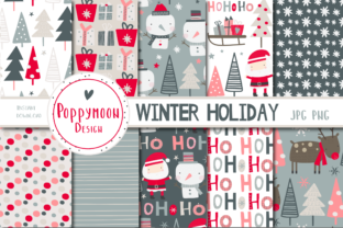 Print on Demand: Winter Holiday Paper Set Graphic Illustrations By poppymoondesign
