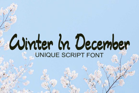 Print on Demand: Winter in December Script & Handwritten Font By Ansart