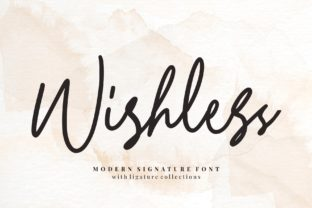 Print on Demand: Wishless Script & Handwritten Font By goodjavastudio